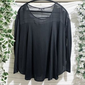 CECICO Black Flowy Top - M